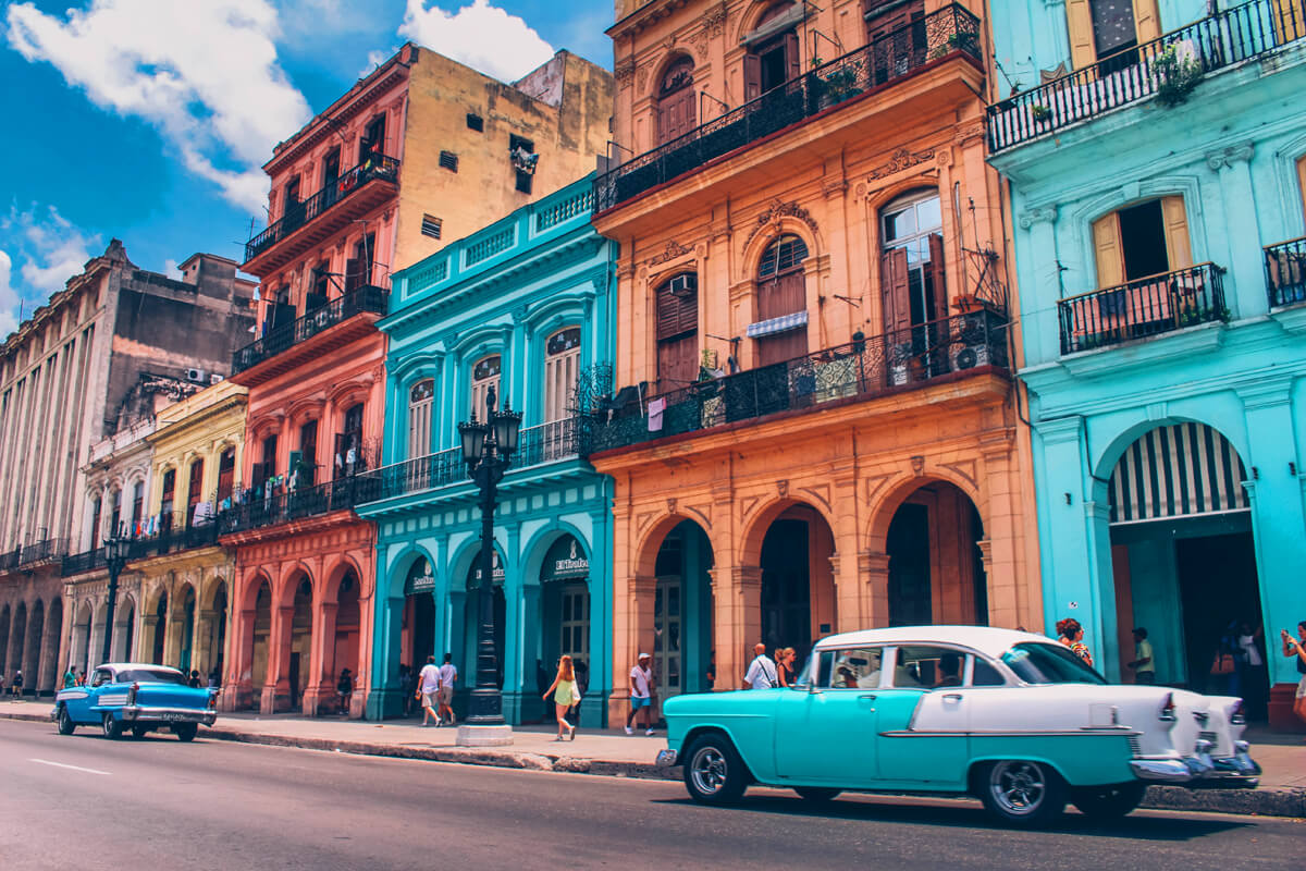 Color is everywhere in Cuba
