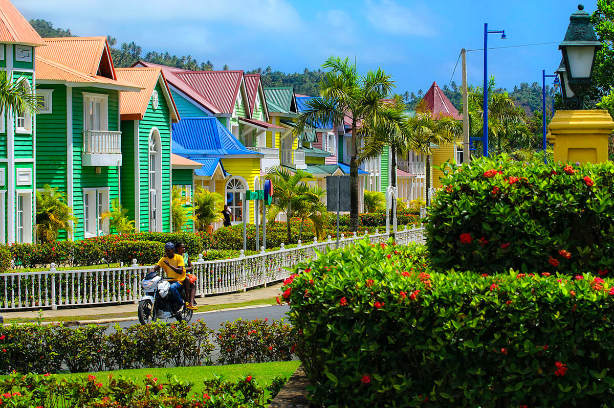 colorful houses in Dominican Republic