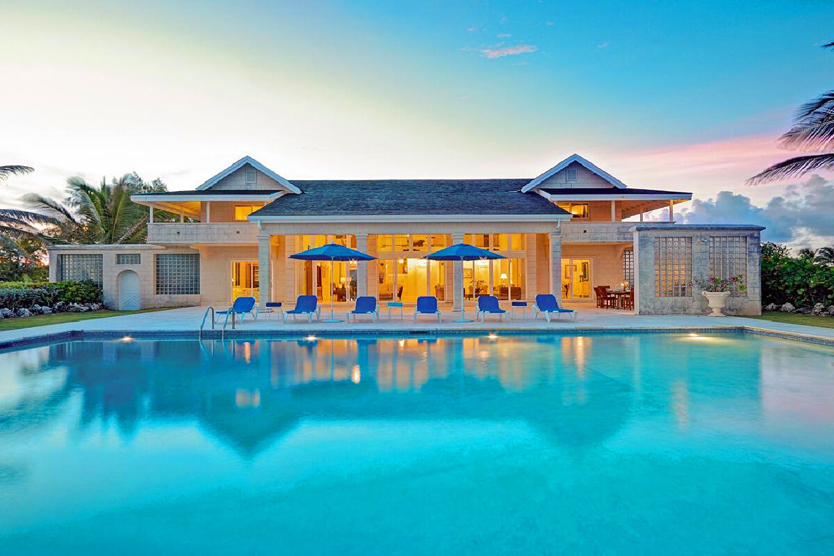 View from the massive pool at Ocean Mist villa in Barbados
