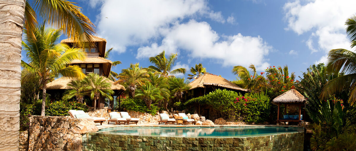 Necker Island's outdoor pool