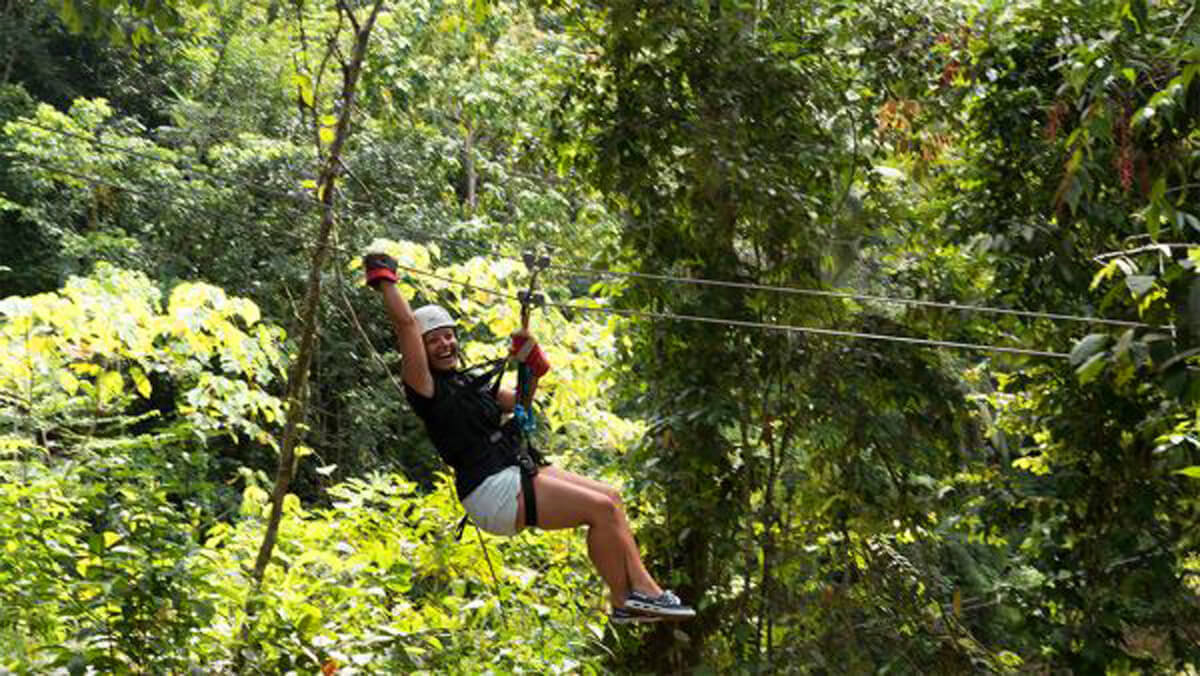Ziplining at Treetop Canopy Adventure