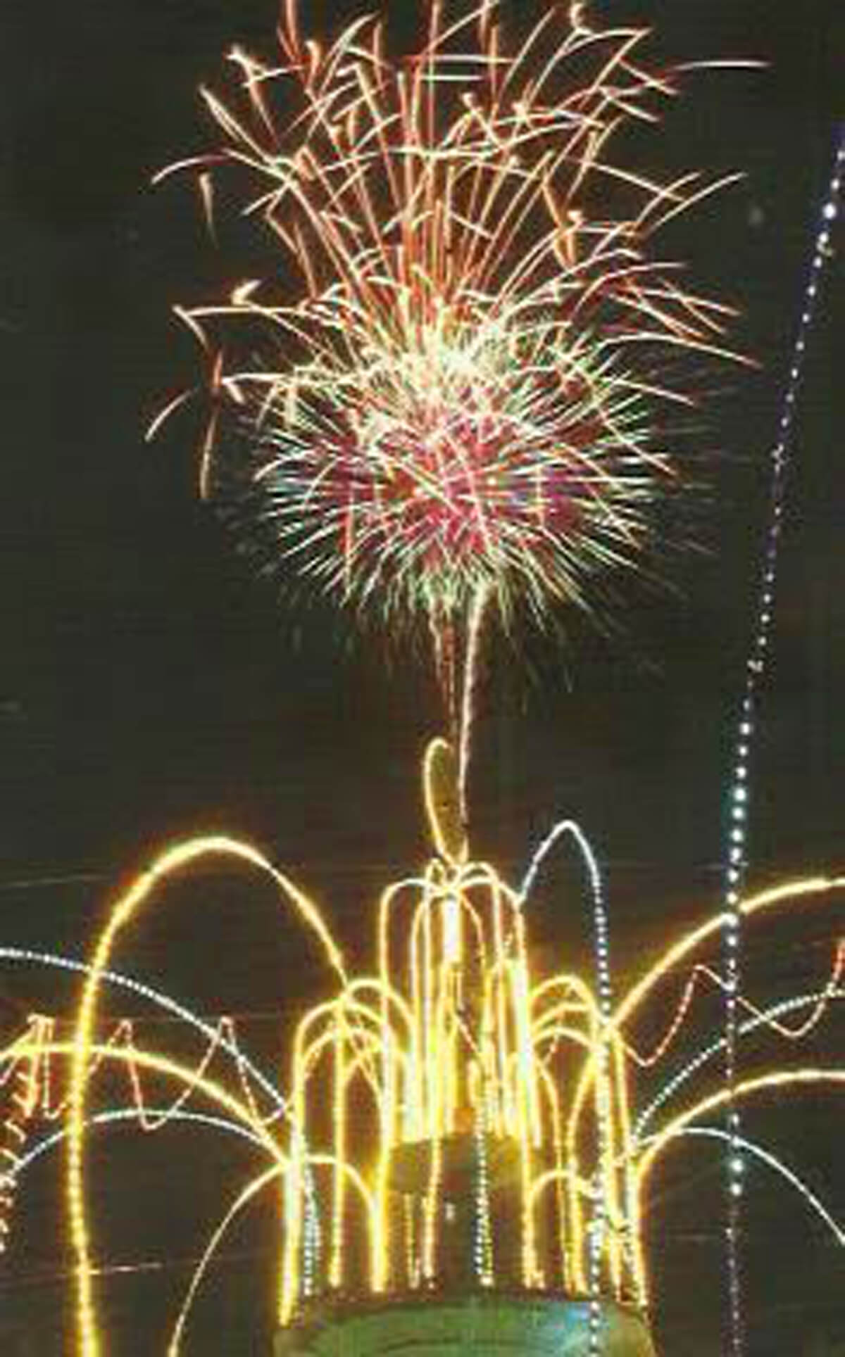 Firework display from St. Lucia's Festival of Lights