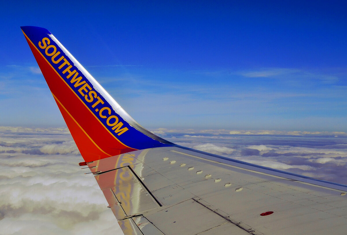 Southwest airplane view