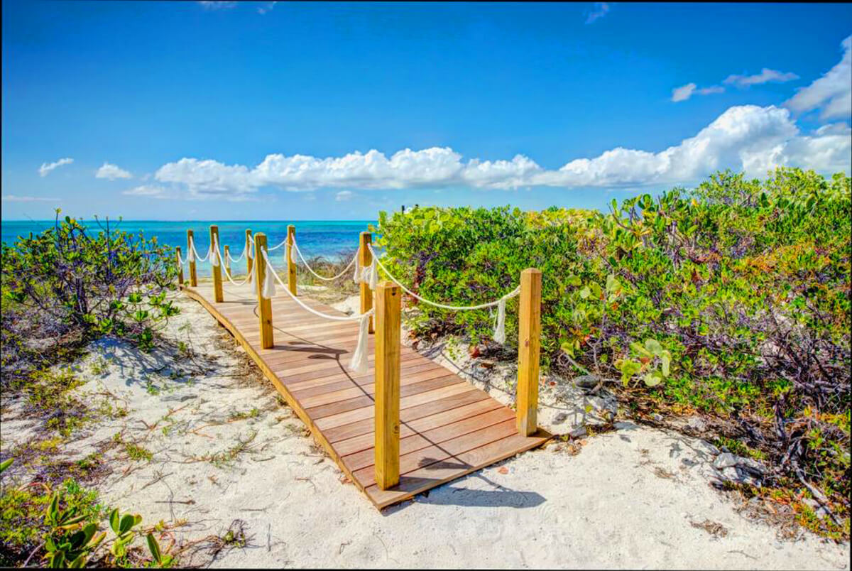 Path to Turks and Caicos beach