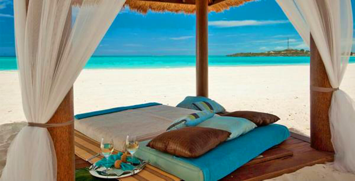 Sandals Emerald Bay, Great Exuma, Bahamas beach cabana