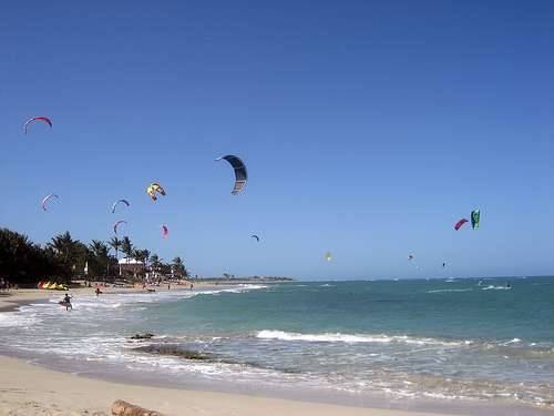 Kitesurfing at Cabarete Beach