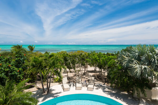 Casa Barana has amazing views of the Caribbean