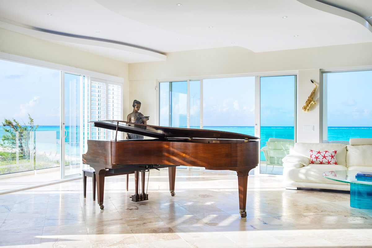 Grand Piano In The Conservatory