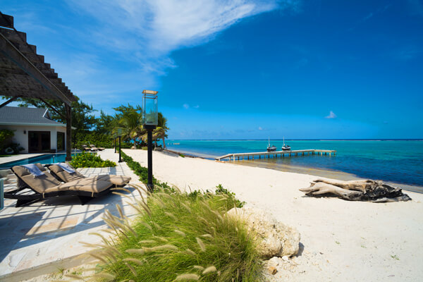 Stepping Stone Villa is located along a beautiful beach at the East End of Grand Cayman