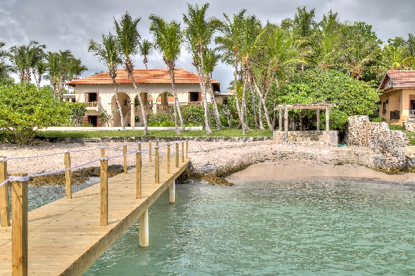 La Serena Villa features a private dock that brings you to a beautiful private sandy beach