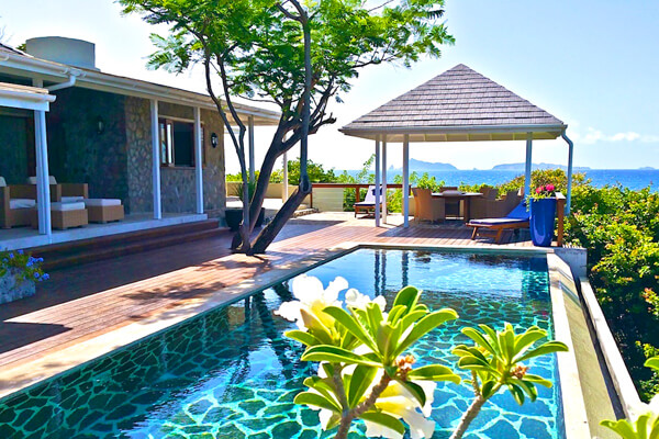 Crescent Beach Villa is located above Crescent Beach and has amazing ocean views