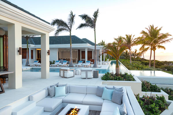 La Dolce Vita sits beachfront on a beautiful stretch of Long Bay Beach
