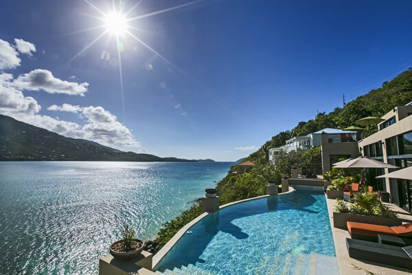 One Perfect Day Villa is located on the Peterborg Peninsula overlooking Magens Bay