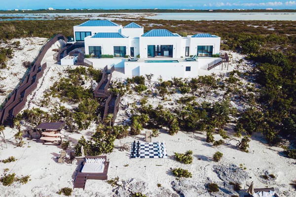 Sing a Song Estate is located right on the beach along Turtle Tail