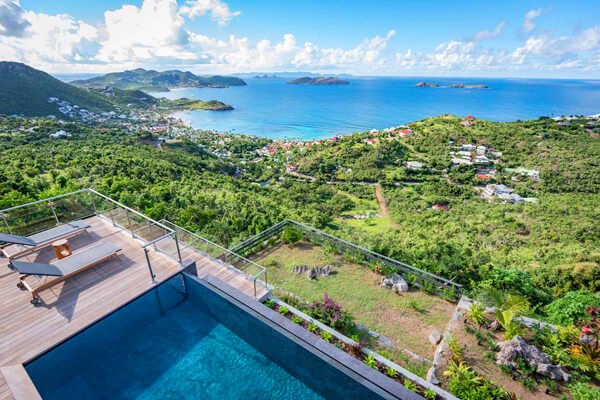 Golden View Villa sits above Toiny Bay on the Vitet hillside