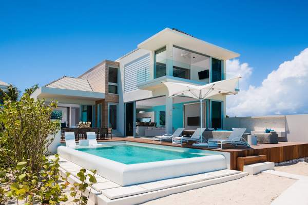Eos is a beachfront villa that is located directly on Long Bay