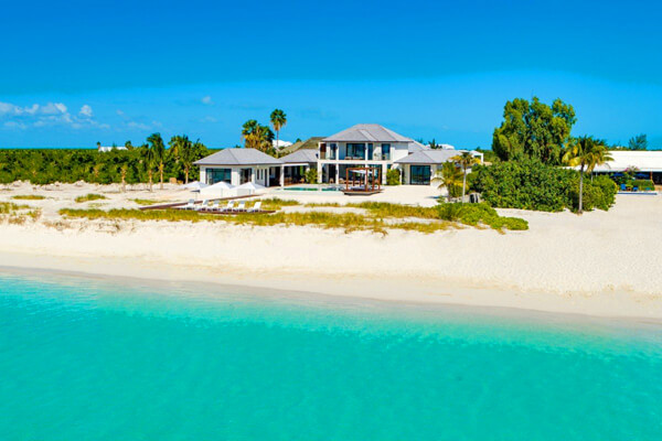 Vision Beach Villa is located directly on Grace Bay Beach