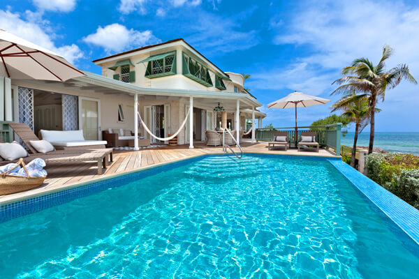 Emily House Villa is located on the southernmost end of Barbados right on the ocean