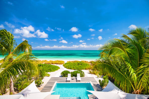 Seascape Villa is located on a beautiful stretch of Grace Bay Beach