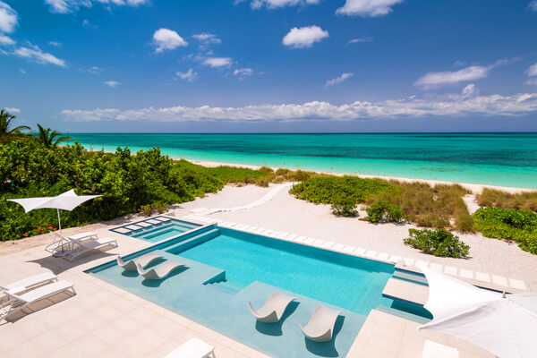 Seaclusion Villa and Seascape Villa combined comprise the Seaclusion Estate in Grace Bay Beach