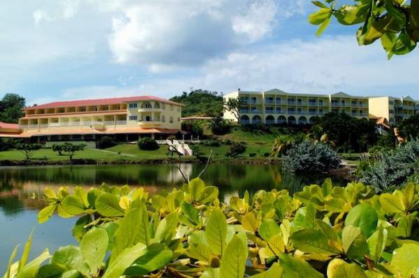 Lake view of the Grenadian by Rex Resorts.