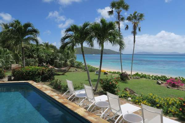 Wonderful beach just steps away from the pool at Beach Dreams Villa