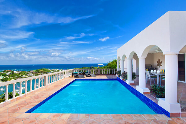 Arcadia Villa has great views overlooking Oyster Bay