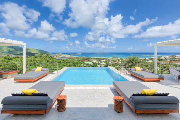 Turquoze Villa is located on a hilltop above Orient Bay