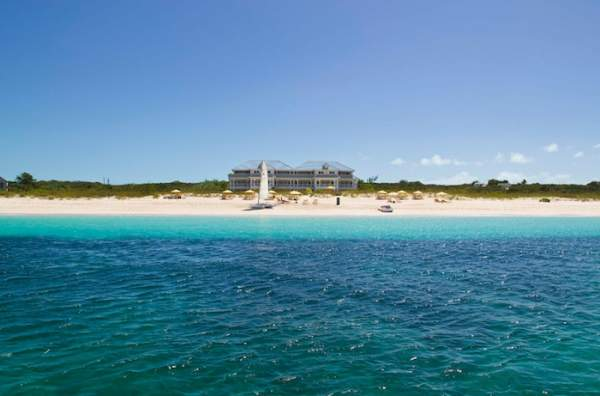 The Beach House hotel on Grace Bay beach!