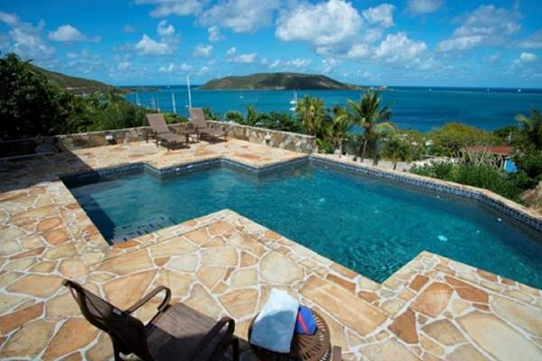 Magnificent ocean views from the pool at Spyglass Villa