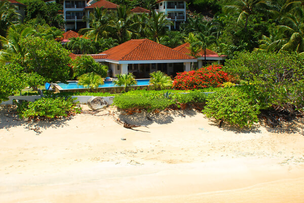 Just steps away from Mahoe Beach - Sea Fans is a beautiful villa