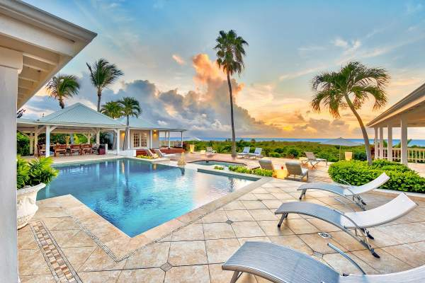 Lounge in Caribbean beauty by the pool at Clair de Lune Villa