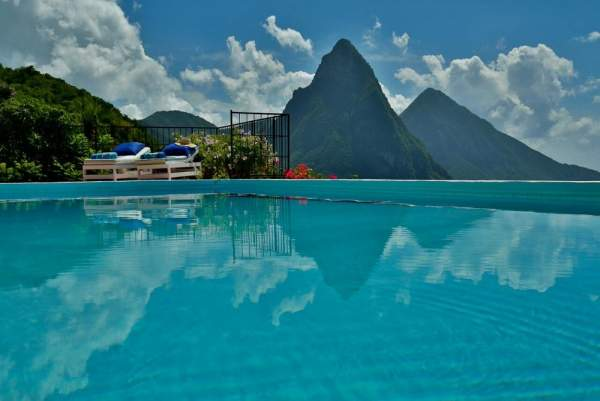 Uninterrupted views of the Pitons
