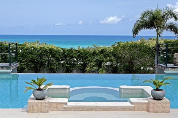 Beautiful views pool side at Giselle Villa