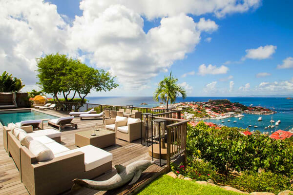 Villa Serenity has a beautiful deck and unparalleled views of Gustavia Harbour