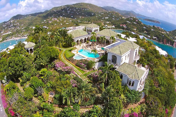 A aerial view of the beautiful Villa Kismet property