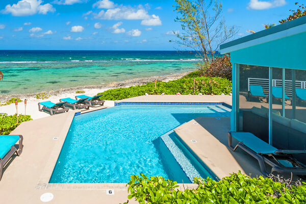 Enjoy endless views of the ocean from Calypso Blue Villa