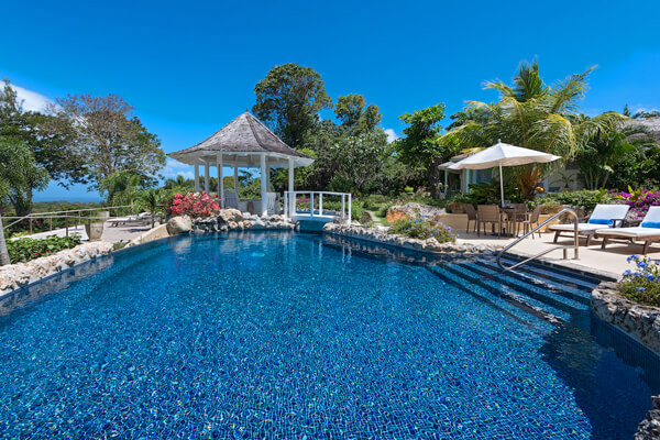 Point of View Villa has an extremely large pool and surround to enjoy the Caribbean sun