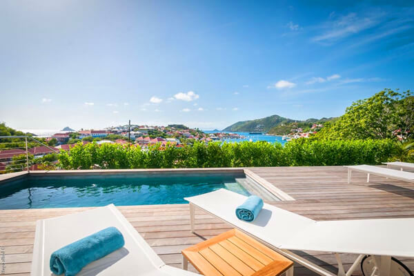 Shell Beach Villa sits just around the corner from its namesake - with views of Gustavia Harbor