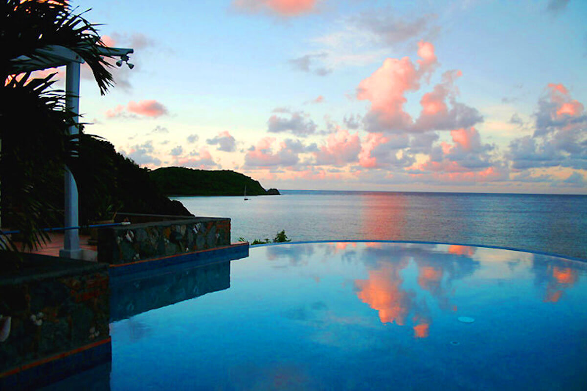 Carnival Beach House Has Amazing Ocen Views Evening From The Infinity Pool