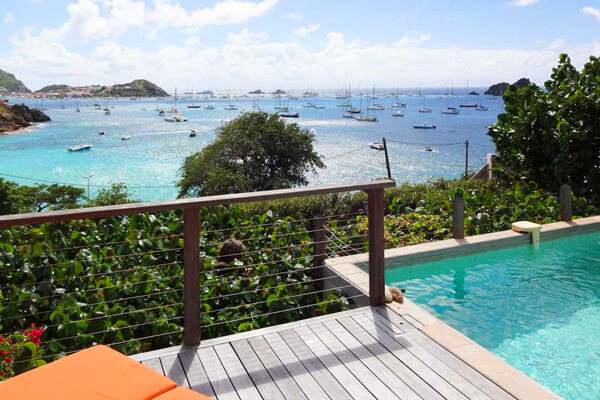 Petit Saint Louis Villa ha great views over Gustavia Harbor