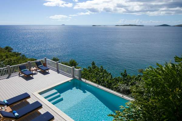 Amazing views of the Caribbean from the balconies at Coqui Villa