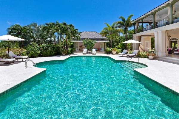 Beautiful pool and backyard area at Eden villa