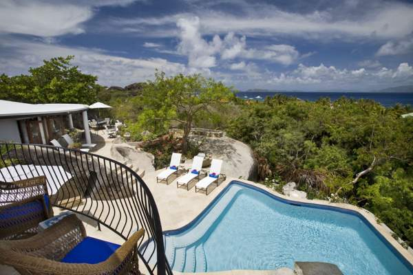On the Rocks Villa is nestled along the hillside providing amazing views