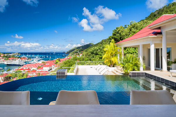 Prestige villa sits on the Gustavia hillside overlooking the harbor