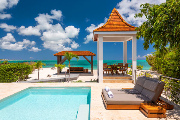 Beach Shack Villa is located near Turtle Cove right on Grace Bay