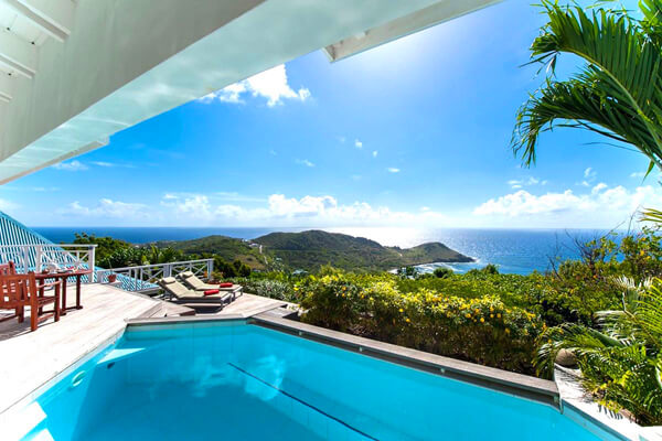 Amazing views over Anse Toiny from Oceana Villa