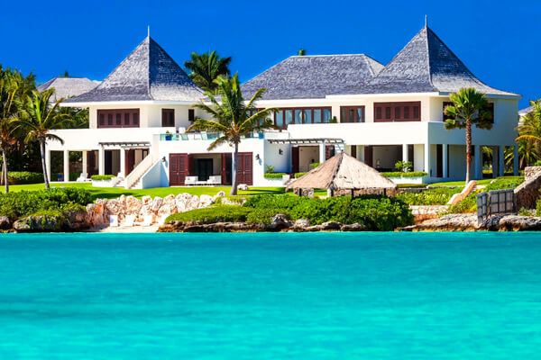 Le Bleu Villa its on 2.5 acres of beachfront in Little Harbor