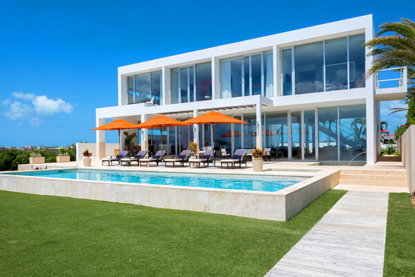 Champagne Shores villa sits on a secluded beach near Pelican Bay