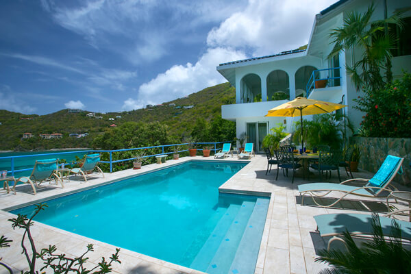 Monte Bay Villa sits atop a hillside just above Monte Bay